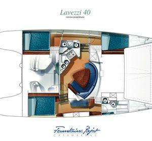 lavezzi 40 catamaran layout