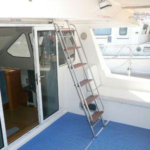 Venturer 38 catamaran stairs