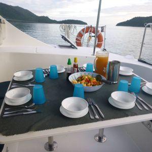 whitsunday blue catamaran food