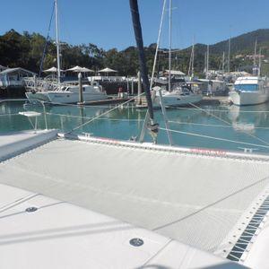 leopard 46 sailing catamaran two keela trampoline