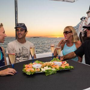 whitsunday getaway catamaran evening