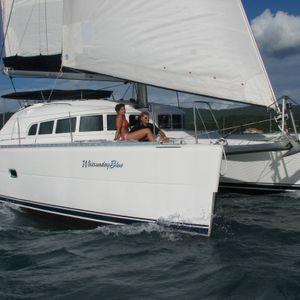 whitsunday blue catamaran side angle