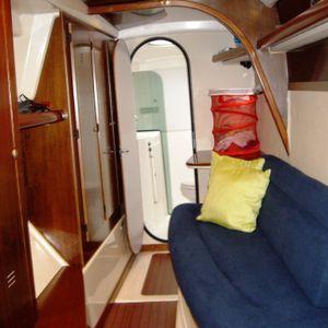 lavezzi 40 catamaran dressing room