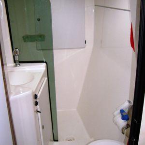 lavezzi 40 catamaran bathroom