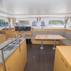 lagoon 450 sailing catamaran kitchen