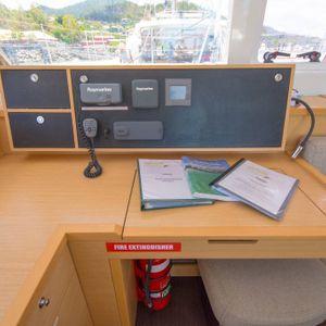lagoon 450 sailing catamaran controlroom