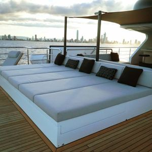 Sahana yacht bedroom