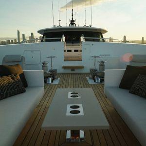 sahana yacht backdeck