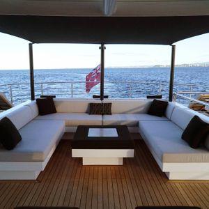 sahana yacht front deck